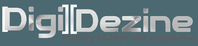 digi dezine logo in light color for dark background