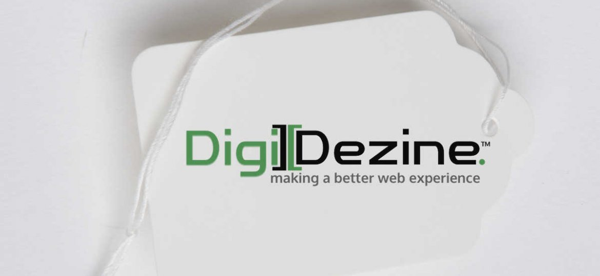 price tag image with logo of Digi Dezine web design agency in Las Vegas