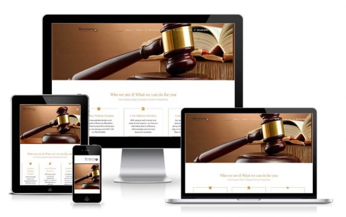 Website screenshot of attorney