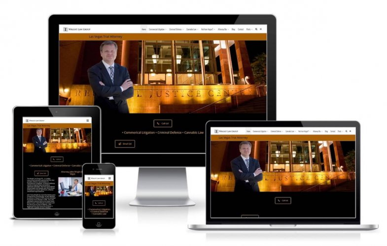 Criminal Defense Attorney website screenshot image