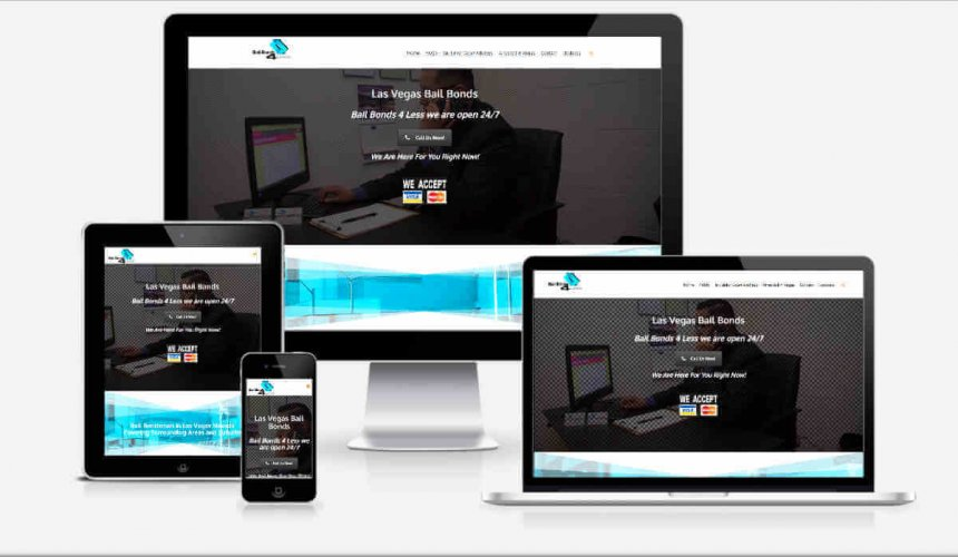image of Bail Bonds Devices website