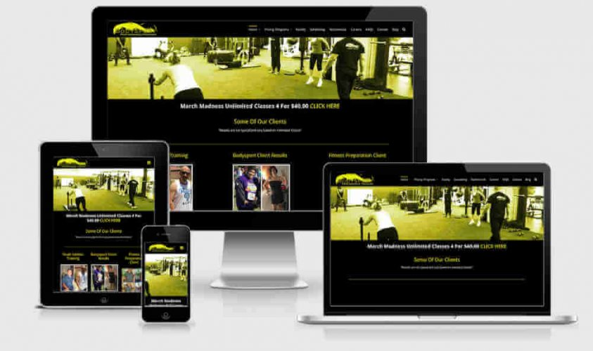 Bodysport Personal Fitness Training Screenshot of all devices