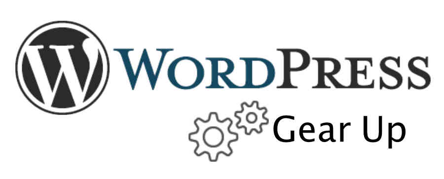 WordPress Logo Gear Up Text and Image
