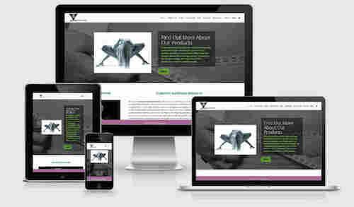 ecommerce Website image of desktop mobile ipad