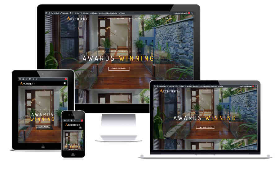 all device website screenshot for a architect website