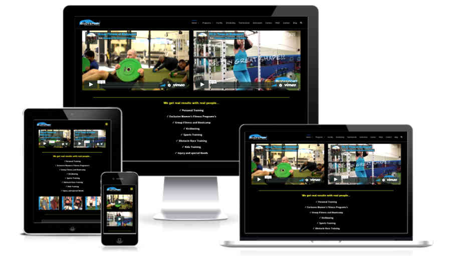 bodysport fitness website displaying all devices