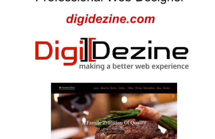 image of website restaurant screenshot showing a steak