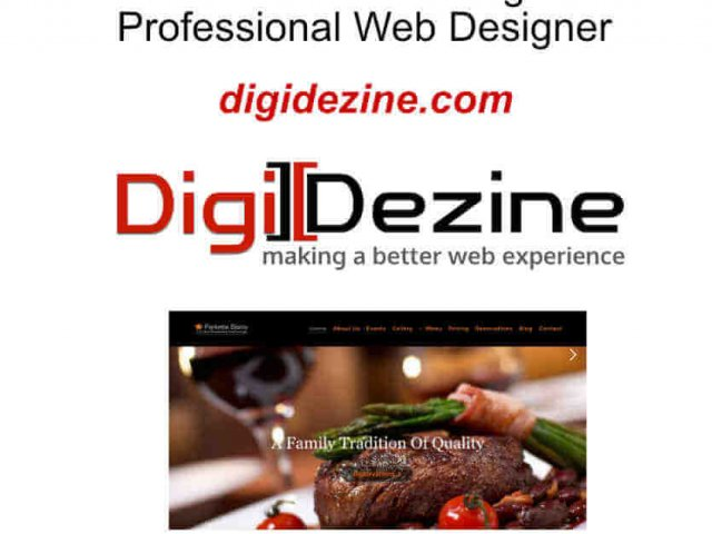 image of website restaurant screenshot showing a steak