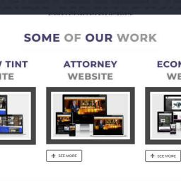 3 website images representing a web design agency blog article