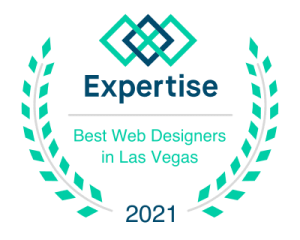 best in las vegas web design badge that says expertise on it
