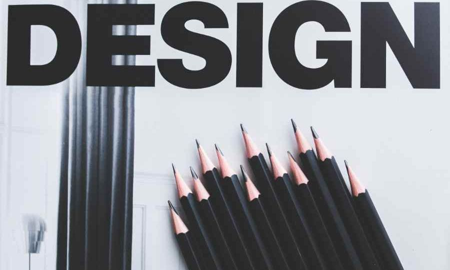 image with the word design and several pencils