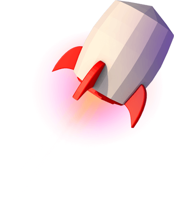cartoon rocket image for website design