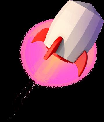 cartoon rocket image for website design